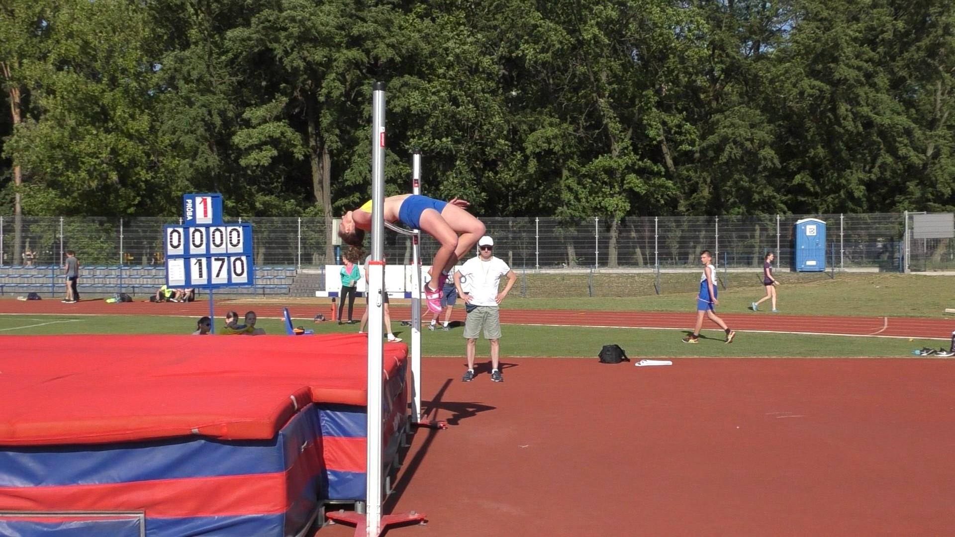 Julka Dutkiewicz – 1,75 m. w skoku wzwyż podczas Grand Prix Leszna