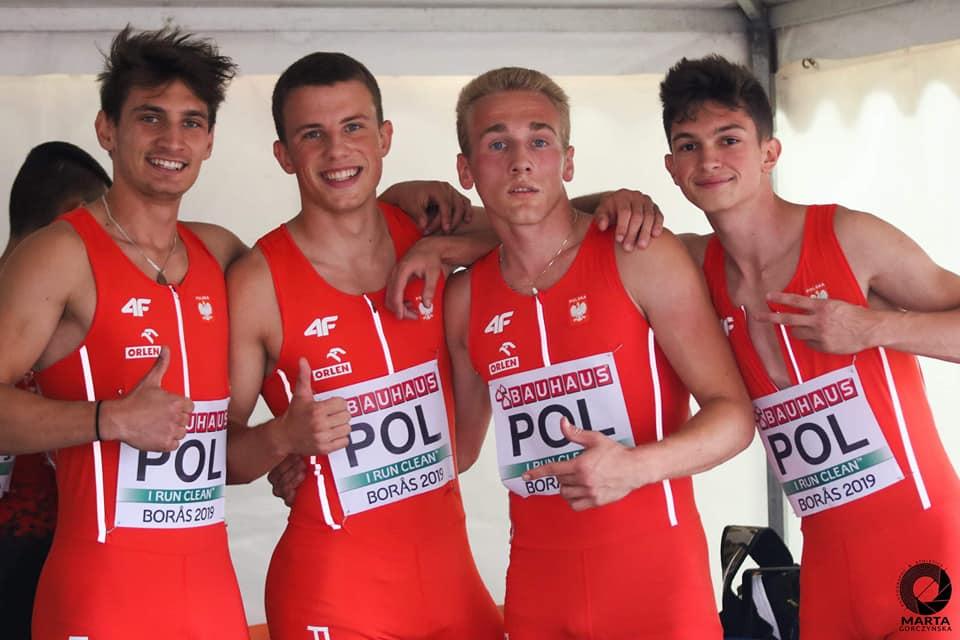 Patryk Wykrota wywalczył z kolegami z reprezentacji Polski IV miejsce w sztafecie 4×100 m. podczas Mistrzostw Europy Juniorów U20 w szwedzkim Boras!!!