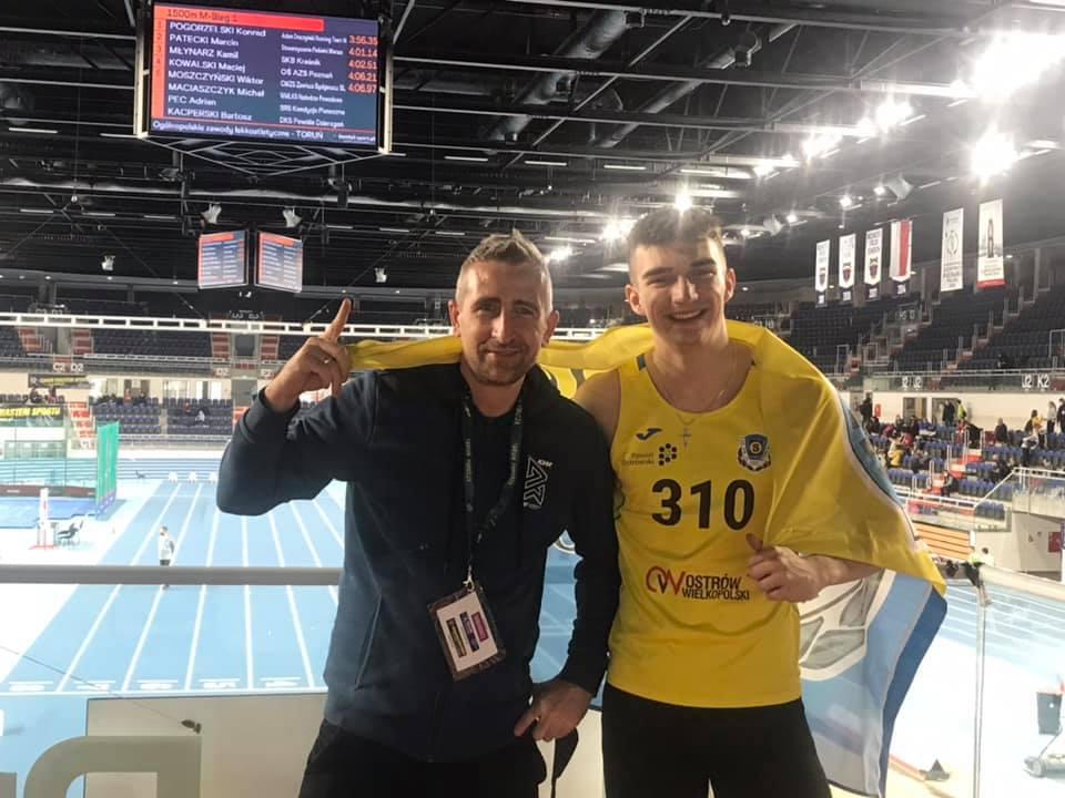 Rekord Polski U20 Marcina Karolewskiego w biegu na 300m, Cztery halowe rekordy Ostrowa oraz ogromna liczba życiówek KS STAL LA w Ostrowie